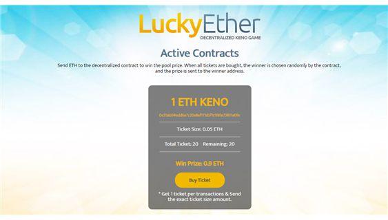 Lucky Ether | Dapp com Where The Blockchain Comes Alive