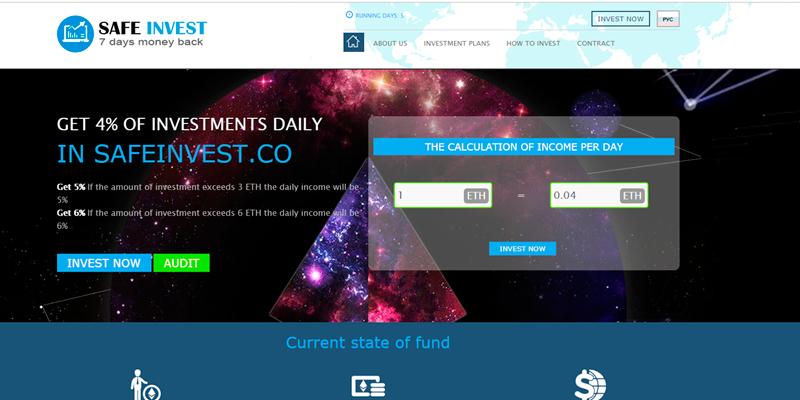 Safe Invest | Dapp com Where The Blockchain Comes Alive