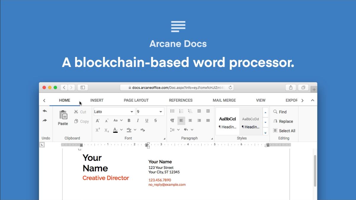 Arcane Docs | Dapp com Where The Blockchain Comes Alive