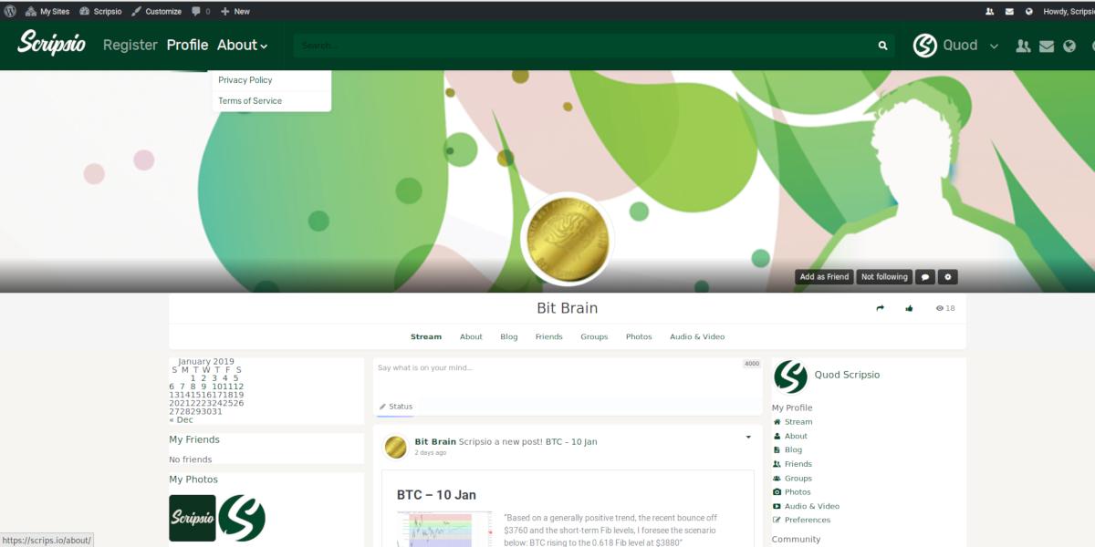 Scripsio | Dapp com Where The Blockchain Comes Alive