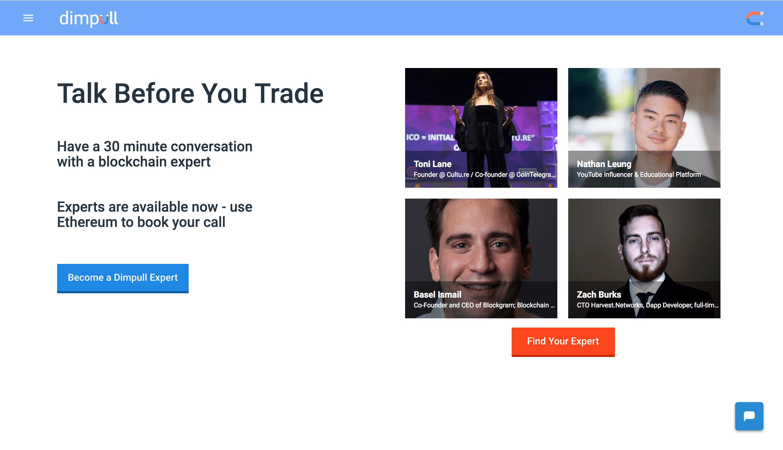 Dimpull   Dapp com Where The Blockchain Comes Alive